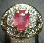 Cincin Permata Natural Pink Ruby Africa