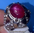 Cincin Permata Natural Ruby Warna Pigeon Blood