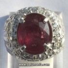 Cincin Natural Ruby (Corundum) + Memo