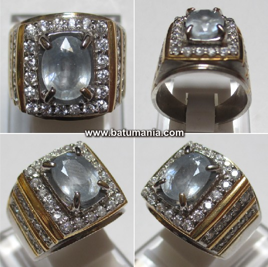 Cincin Very Light-Blue Safire Ceylon Srilanka