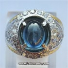 Cincin Violetish Blue Safir, Efek Air Koclak + Memo