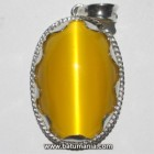 Liontin Batu Mata Kucing Warna Kuning (Yellow Cat's Eye)