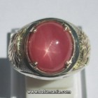 Cincin Batu Ruby Star Burma Natural + Memo