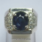 Cincin Natural Royal Blue Sapphire Ceylon/Sri Lanka + Memo