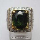 Cincin Batu Natural Green Tourmaline + Memo