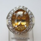 Cincin Batu Natural Yellow Zircon + Memo