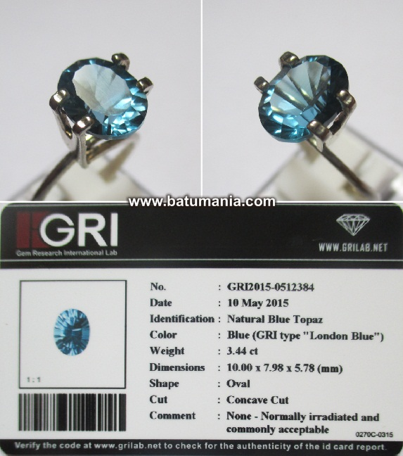 Batu London Blue Topaz Natural