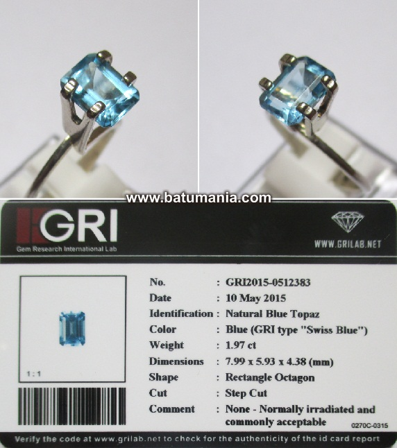 Batu Swiss Blue Topaz Natural