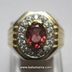 Cincin Batu Natural Pink Spinel + Memo
