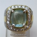 Cincin Batu Natural Light Blue Aquamarine
