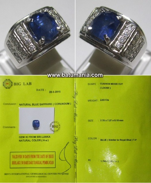 Sim to Royal Blue Safir Ceylon