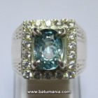 Batu Blue Zircon Natural Kamboja