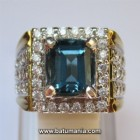 Cincin Batu London Blue Topaz